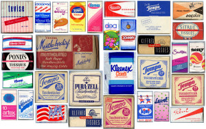 Vintage tissue pocket packs