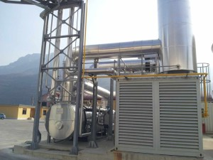 The cogeneration plant for the Cartiera Cooperativa Rivalta paper mill.