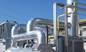 The thermal energy recovered as hot water and steam is used inside the plant.