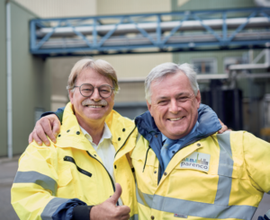 Project manager Edward de Vries (left) and mill manager and CEO Geert Wassens (right).