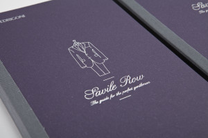 The new sample book for the Savile Row Collection of Fedrigoni specialty papers is manufactured in the Varone factory near Trento.