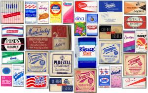 Vintage tissue pocket packs