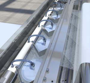 WEKO Rotorenträger mit Warenbahn auf-Tissue