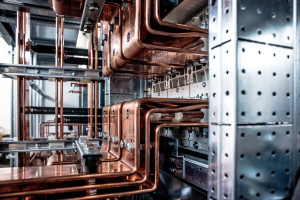 Detail of copper elements for the A.Celli Paper plant in Mexico.