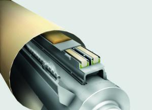 Shoe press with unique edge control system.