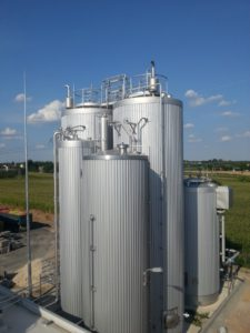 Full compact industrial waste water treatment plant at medium organic load, anaerobic + aerobic, Dacs + Mbbr.